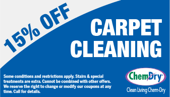 15% off carpet cleaning coupon